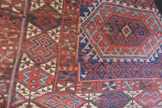 Antique Persian kurdish Jaff Rug Size.207x130cm