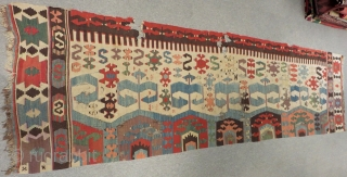 Early 19th Century West Anatolian Kilim  Size.325x90 Cm