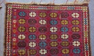 Antique Caucasian Karabakh Rug Size.116x104cm