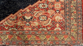 Antique Persian Saddle Cover Size.100x86cm