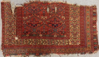 Antique Nort West Persian Fragment Rug Size.116x65cm