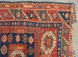 Early 19th Century West Anatolian Bergama Rug Size.90x86cm