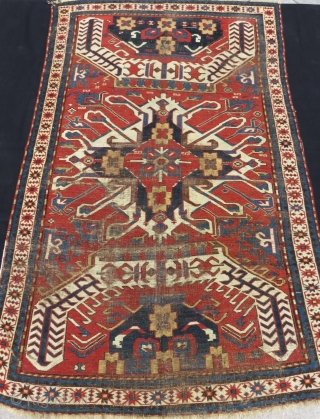 Mid 19th Century eagel kazak with single madalion all natural dyes Size.230x145cm