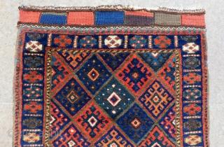 Antique Persian Jaf Bagface Size.60x58 Cm