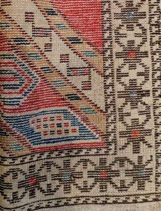 Antique Caucasian Shirvan Bagface Circa 1880.90 Size.53x52 Cm