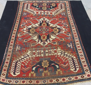 Mid 19th Century Eagel Kazak All natural Colours Size.230x145 Cm