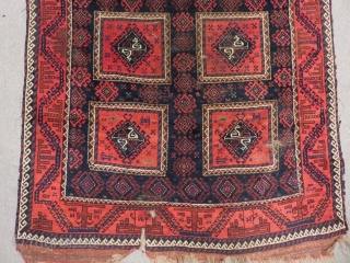 Antique Baluch Rug Size.225x120 Cm