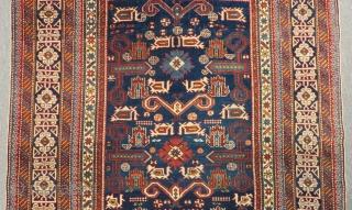 Antigue Caucasian Shirvan Perepedil Circa 1890-1900 All Colours Natural Size.175x125 Cm