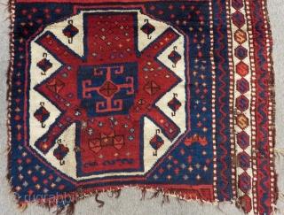 19th c East Anatolian Şafak Fragment Rug Size.123x85cm