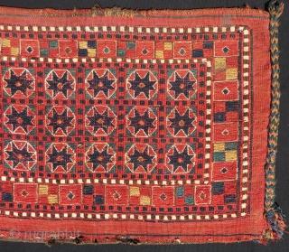 Antique Türkmen Ersari Sumach Torba Size.67x43 Cm
