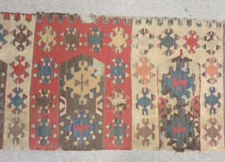 19th Century Anatolian Kilim Size.317x62cm
