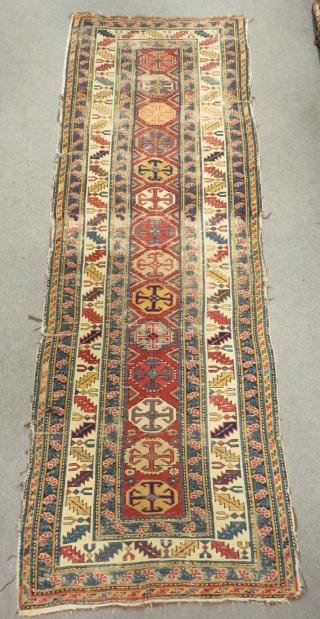 Old Caucasian Şirvan Kuba Carpet Size.260x92cm