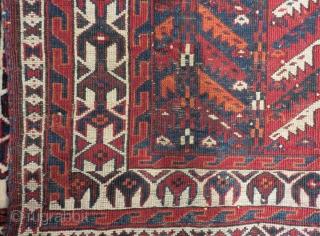 Mid 19th C Türkmen Yamud Asmalik Size.100x65 Cm