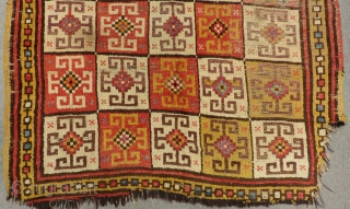 Second 18th Century Central Anatolian Konya Bozkır Rug Size.190x135 Cm