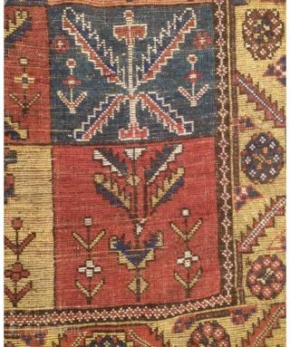 Antique Persian Bahtiyari Rug Circa 1870-80 Size.200x120 Cm