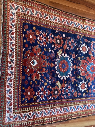 "Kurdish Sauj Bulaq carpet featuring a beautiful Harshang design, 2nd half 19th C., 12' x 5'2"", in excellent condition. Minor losses to ends. Full pile with small areas of light wear.   ..."