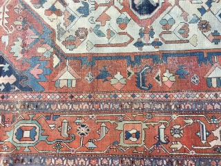 Persian Serapis are among the most expensive Persian rugs, and when it comes to oversizes it will even become more pricey. The one that I'm offering here, is NOT a Persian Heriz,  ...