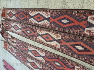 Yamut band, circa 1900 16 meters long * 45 cm  Por