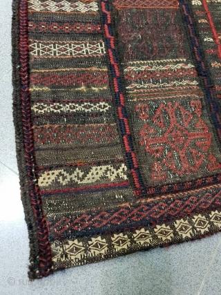 Siah(dark) baluch sofreh, circa 1940 130*125 cm