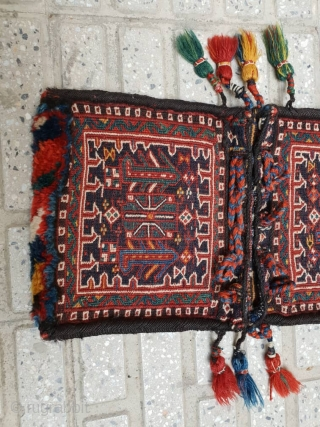 Enchanting Bakhtiary mini size khorjin(achmeh),excellent  condition 