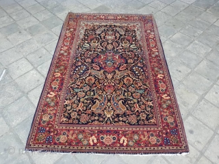 Fine pair kashan rugs