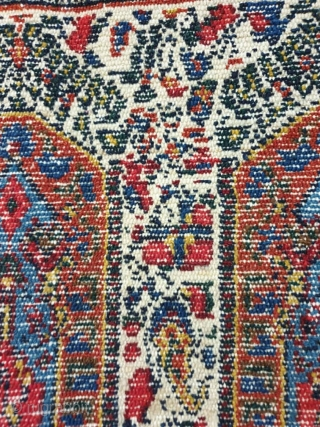 A symmetrically knotted Kurdi rug From sanandaj, the field design is composed of repeat made up from buteh pattern,more typically found in kerman rugs its colors are so sharp,monochromatic blue in excellent condition,cotton foundation, Measuring   ...