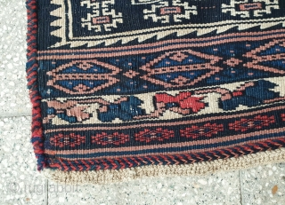 Antique Afshar kilim with Intricate fine weaving, naturally dyed  Early 20th century , size 222 * 122 cm, excellent condition