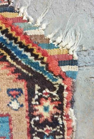 Seldom Kurdish piled rug,utility cover,aged 80 years 96 * 41 cm
