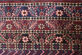 Seldom afshar rug,with central diamonds  & three equal margins ,circa 1940, excellent condition