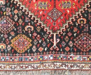 Stuning Qashqai poshti face, measurements 77*75 cm,have small repairs in some area's