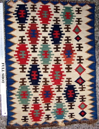 Beautiful small Caucasian Kilim possibly part of saddle bag 