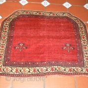 Ref 1436 Afshar Horse cover. 2'11 x 3'7 - 89 x 108.  Late nineteenth century. Natural colours without restoration. www.purdon.com