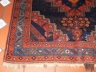 Ref 1418 Afshar, late nineteenth century. 5'8 x 4'10 - 173 x 146. All natural colours.