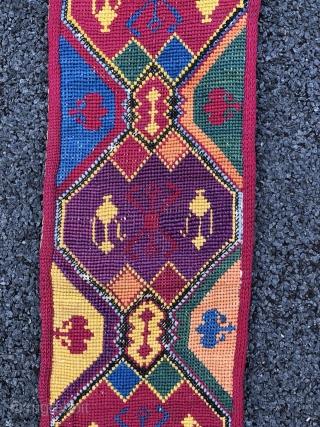1627 Uzbek embroidered belt. Circa 1900