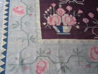 Ref 1459 Nineteenth century Bessarabian kelim. 12'11 x 8'0 - 395 x 245.  In good condition without restoration