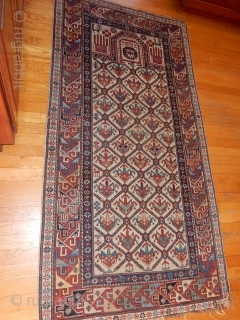 Ref 1651 Shirvan Prayer rug, nineteenth century with excellent design and natural colours. 5'10 x 3'4 - 178 x 102