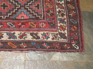 Ref 1471 Kurdish rug nineteenth century with all natural dyes.6'8 x  4'3 - 205 x 123