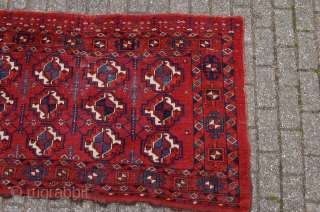 "antique middle Amu Darya tribal Ersari Turkoman chuval 171 x 96 cm (5ft 8"" x 3ft 2"") mid 19th century. All natural dyes. Condition: good, evenly medium to low pile with minor  ..."