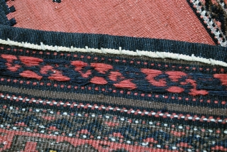 Sofreh, Belouch, early 20th century, knotted border and kilim field. 