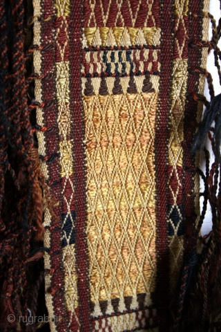 "Tent binding, Shahsavan early 20th century. Long 375 Cm ( 12 ft 6 "". ) 