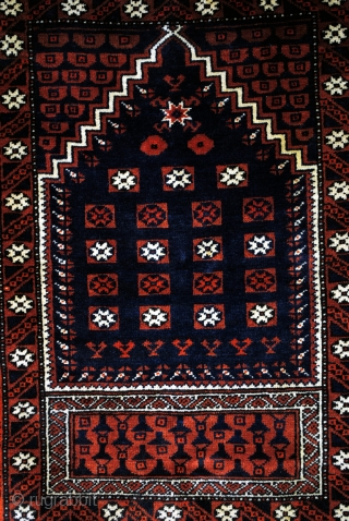 Yagcibedir, West Anatolia. End 19th century.  Style with typical dark colors and fine high quality knotting. 130 x 85 Cm. 4.3 ft. x 2.8 ft.  300.000 Kn/sq M.    Literature:  Battenberg Orientteppiche, Kurt  ...