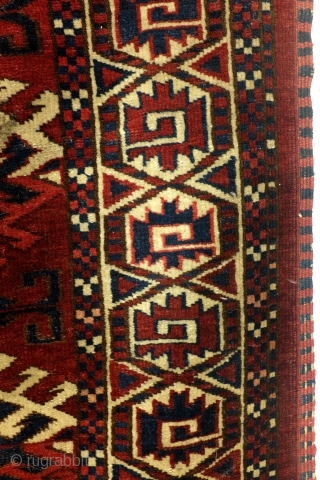 Antique Turkoman Ersari Yomout rug. 1880 - 1890.