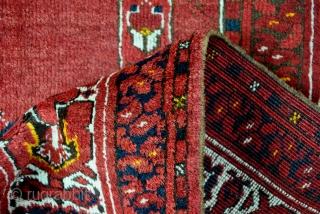Double prayer rug, Ersari Beshir, Middle Amu Darya Area.  Early 20th century. Rare.  In great condition.  220 x 118 Cm.