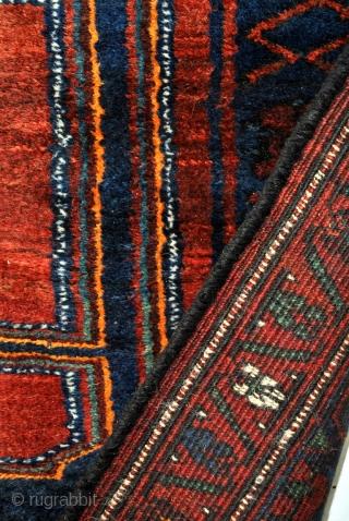 Koerdish long rug, Kelardasht. Prov. Mazandaran.  Perfect condition. Original sides and headings.  305 x 157 Cm. high pile, great gloss.
