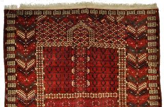 Turkmen Tekke Ensi. Late 19th century.  134 x 160 Cms.
