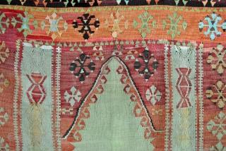 Sivas, Anatolian prayer rug.  Kilim, 1910's.  In good condition.  120 x 170 Cm.