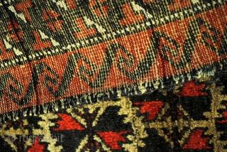 Belouch, natural Camel ground, 160 x 90 Cm. - 5.3 ft. x 3 ft.  Wool om wool. Warp white wool.