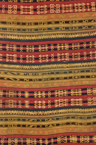 Jijim, or cicim, Azerbeidzjan, antique, 108 x 260 Cm. 3.6 ft. x 8.6 ft.