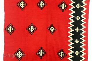 Kilim, Bulgarian, mid 20th century, 340 x 125 Cm.  11.3 ft. x 4.1 ft.  Wool on wool.