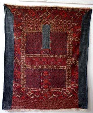 Antique Hatchlou Prayer rug Old repairs.  155 x 122 Cm's.